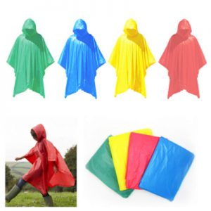ODP 0159 Hooded Plastic Poncho various colour